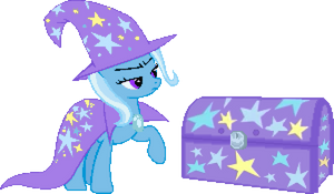Trixie and her magic chest