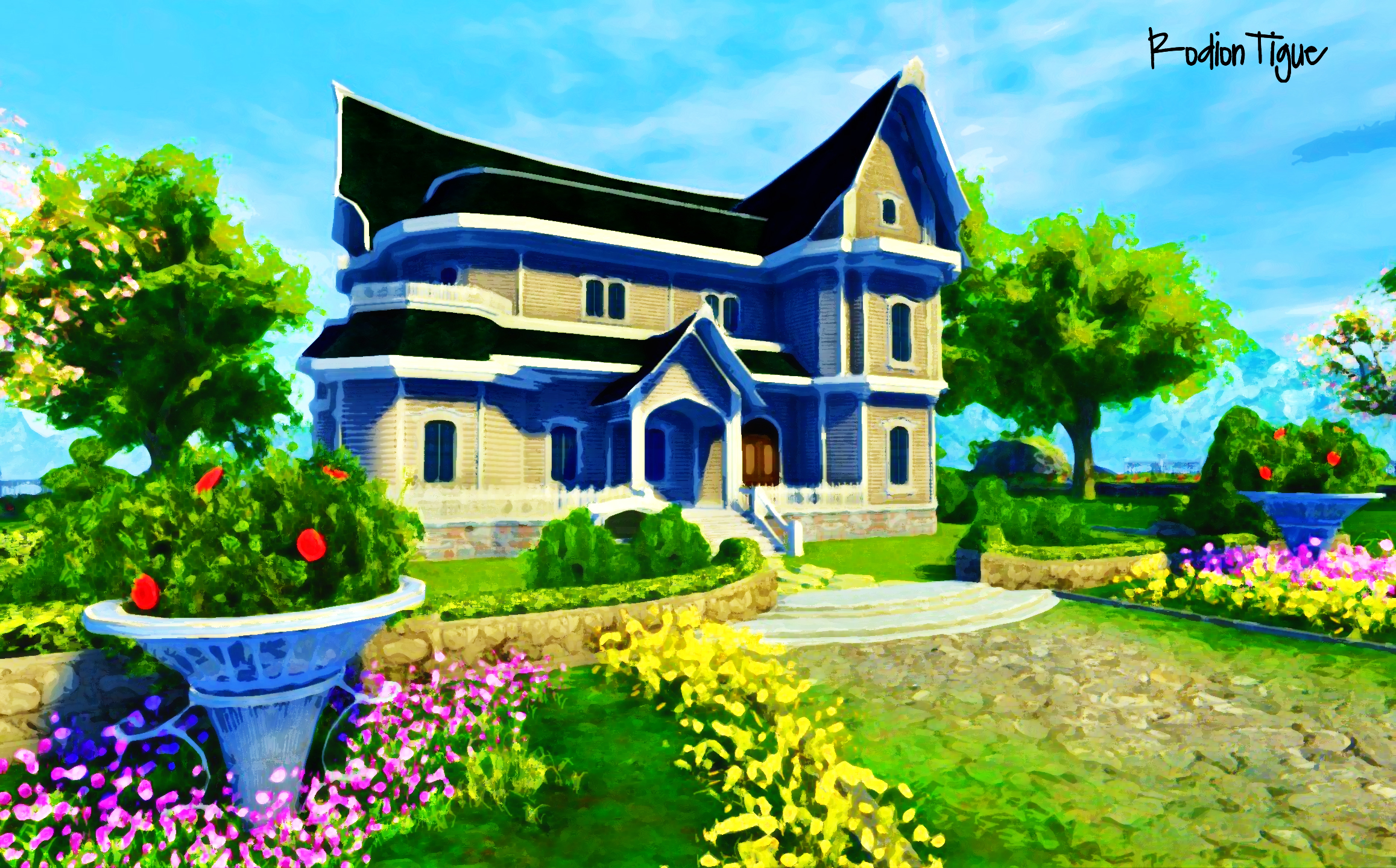Dream home wallpaper by rodiontigue on deviantart for Beautiful house hd image