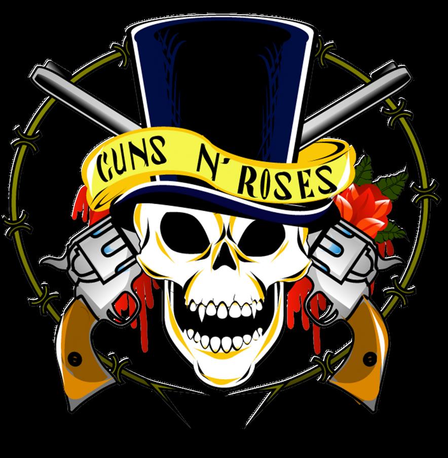 Guns n roses skull logo