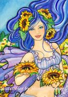 Sunflower Mermaid by B0RN2BWILD