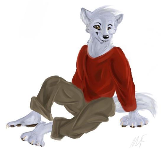 Furry Wolf Anthro Furry Wolf Teen by Crewwolf