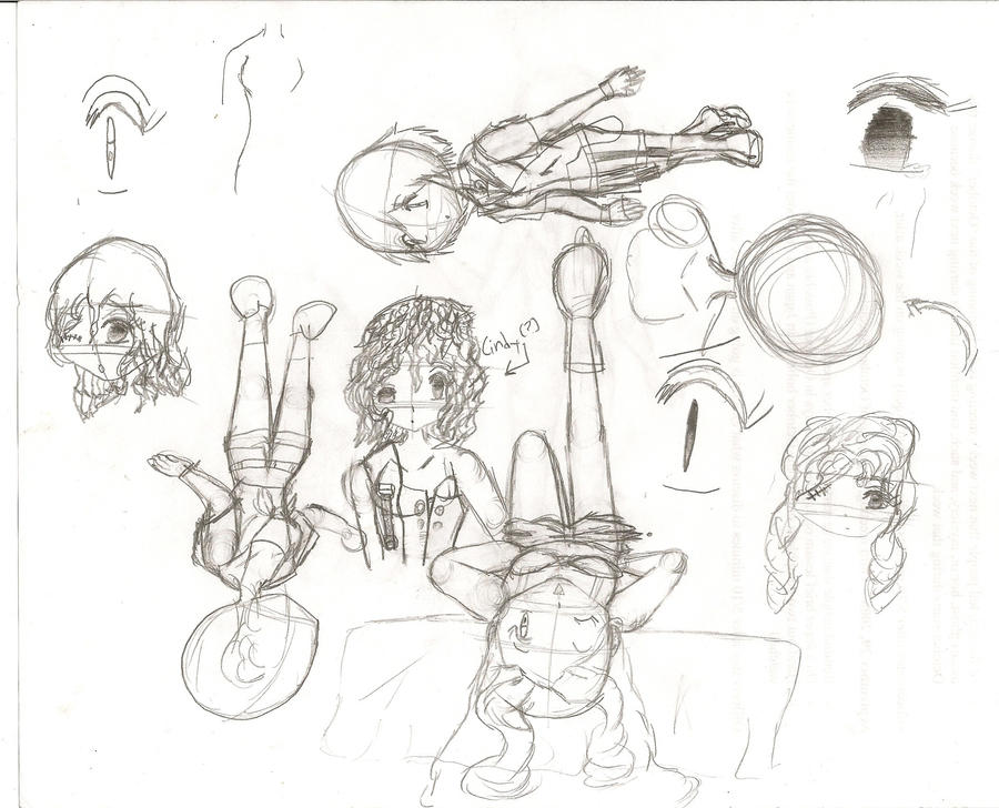 Sketches 3 - Random Doodles by TrainerKelly