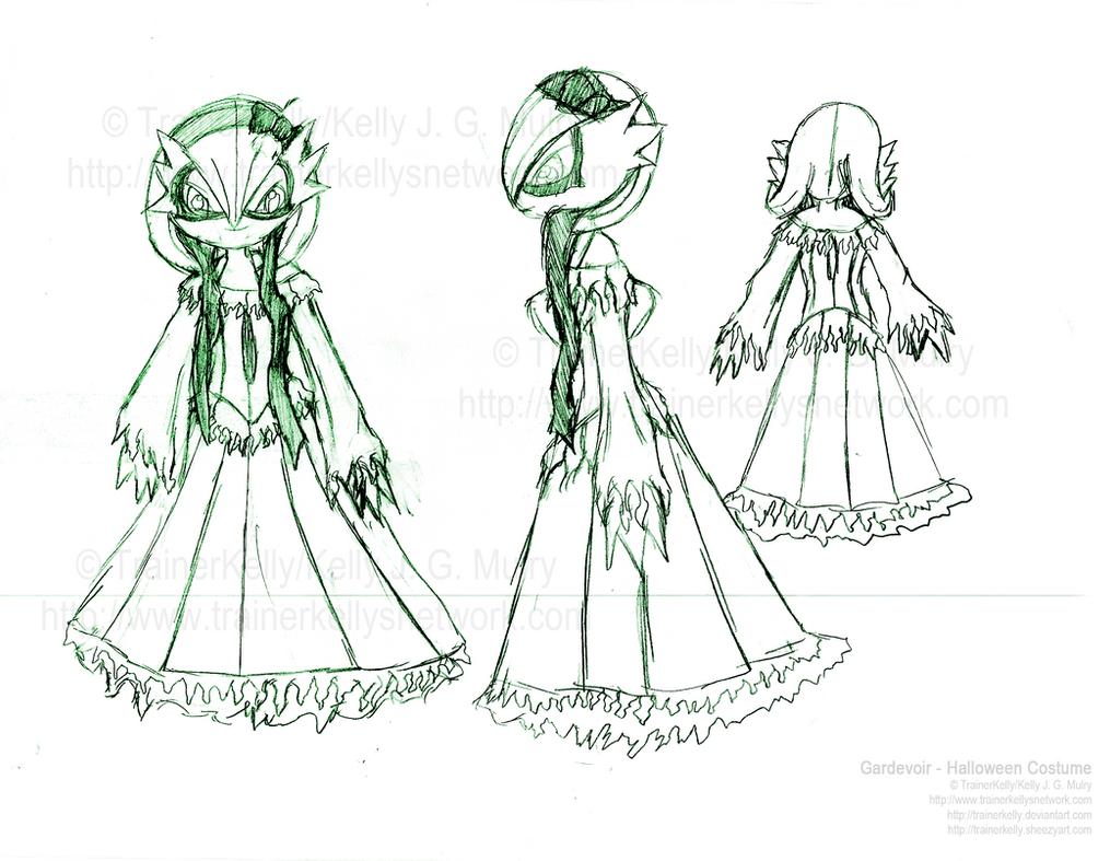 Step 3 - Gardevoir's Costume by TrainerKelly