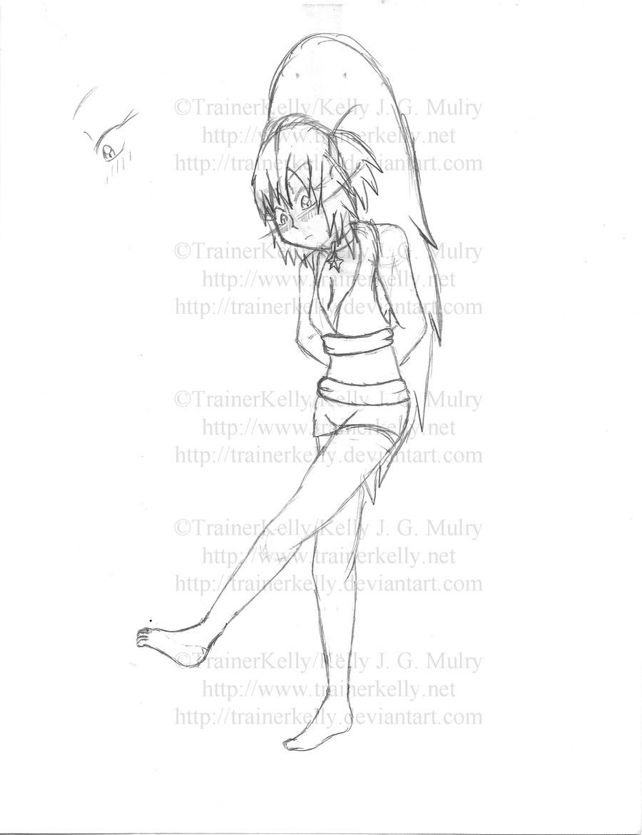 SKETCH - Kelly Kicking Sand by TrainerKelly