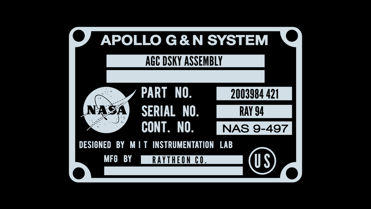 Apollo Guidance Computer DSKY mfg. Plate by FlyingBoxHead on DeviantArt