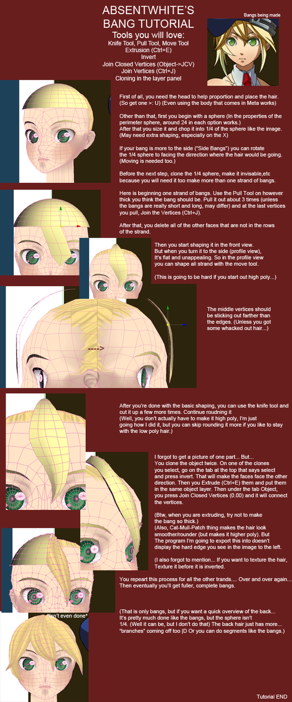 Hair (Bang) Tutorial V02 by AbsentWhite