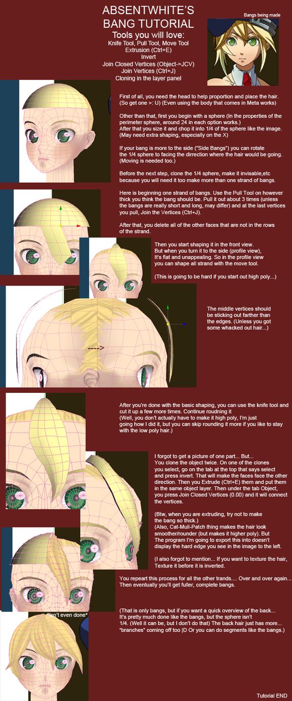 Hair (Bang) Tutorial V02 by AbsentWhite