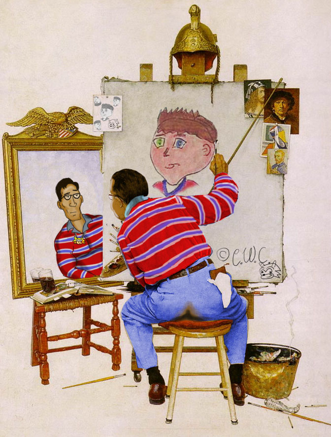 Chris Chan Norman Rockwell By Nevermonkey On Deviantart