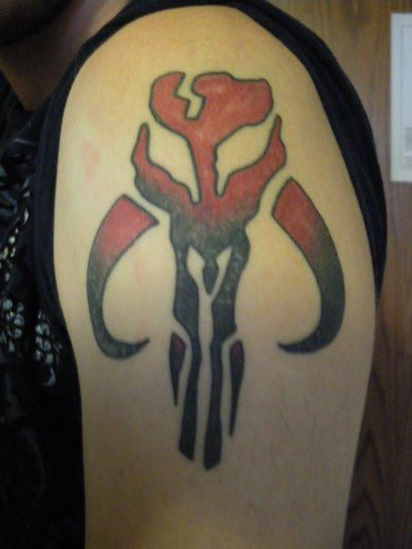 Mandalorian Tattoo: Mandalorian Skull Tattoo By Mace-X On DeviantArt