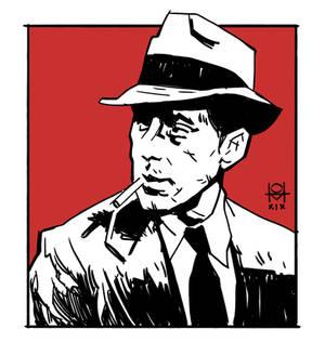 Bogart as Marlowe in The Big Sleep
