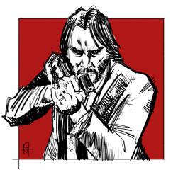 Keanu as John Wick for Noirvember