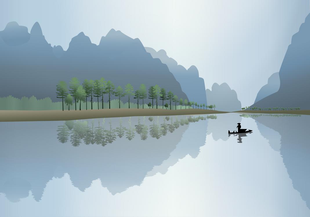 China Gradient Scene by kookybat