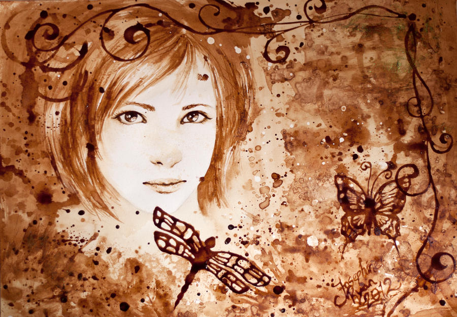 Coffee painting by mirieldesign on deviantart for Painting with coffee