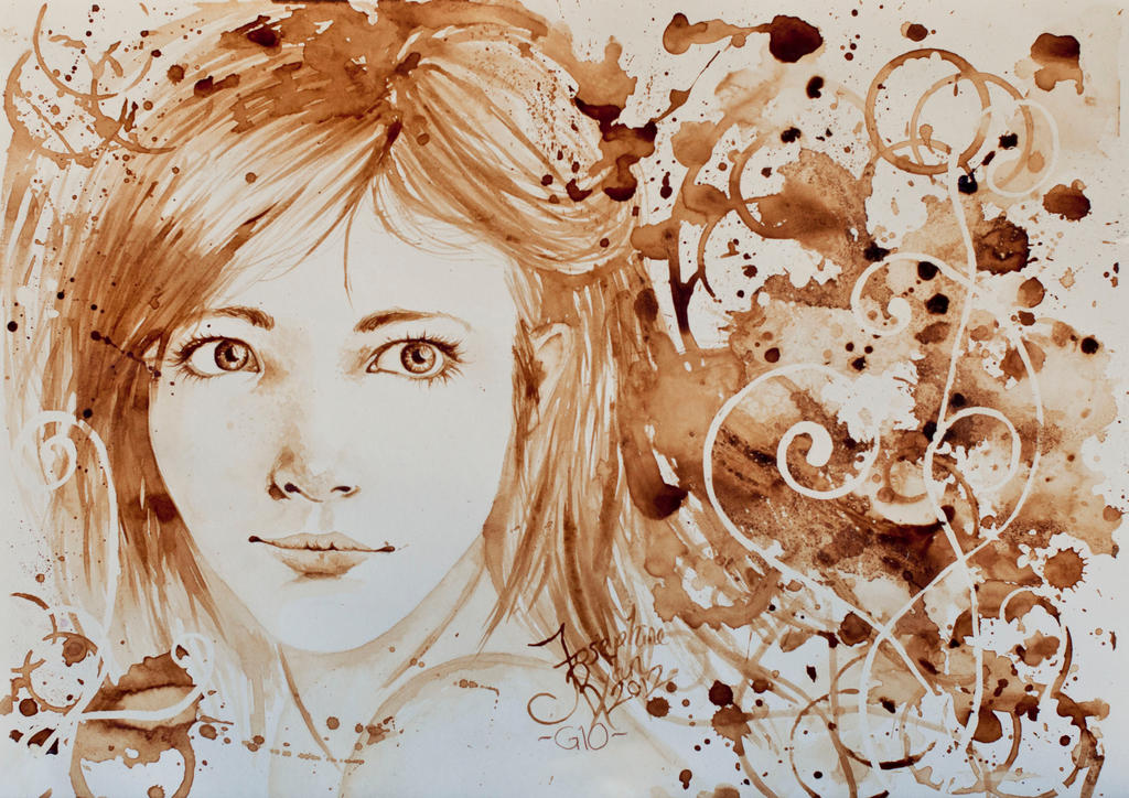 Coffee painting 3 by mirieldesign on deviantart for Painting with coffee