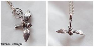 Hand made silver bird