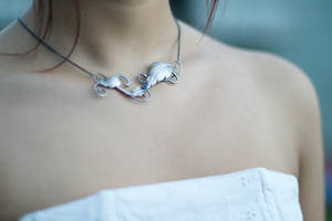 Handmade Leaf Wedding set - The necklace
