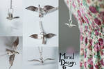 Silver Bird in Flight