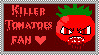 Killer Tomatoes Stamp by flying-wolf-32
