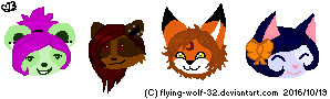 Pixel Heads by flying-wolf-32