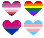 lgbt+ heart stickers by flying-wolf-32