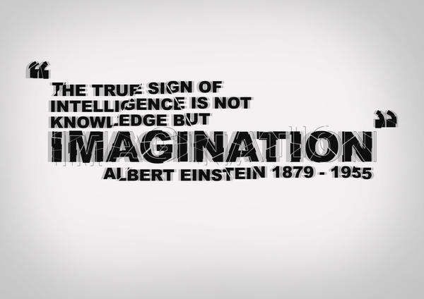 Imagination Typography by MattEdson