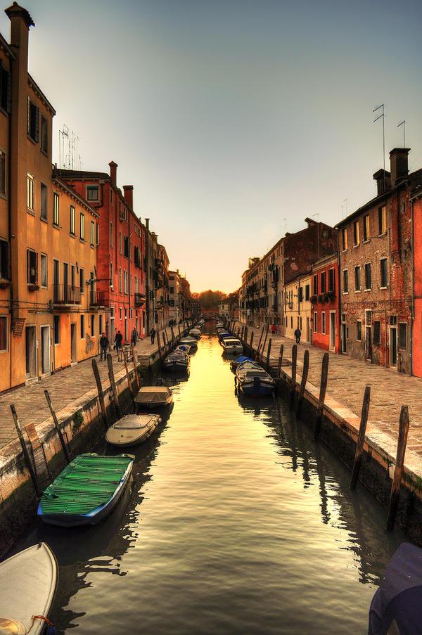 Venice River Sunset by MattEdson