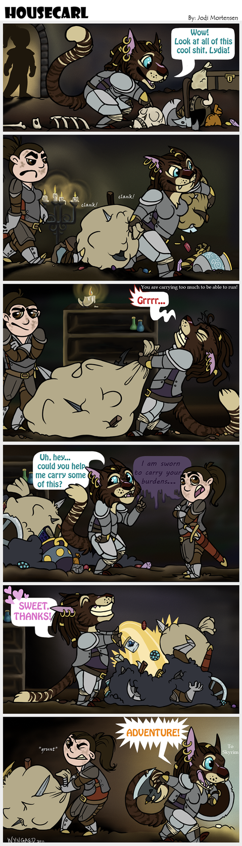 Housecarl - A Skyrim Comic by wyngaed
