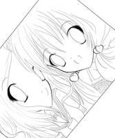 Ichigo and Lola lineart by XoXpuppybluesxOx