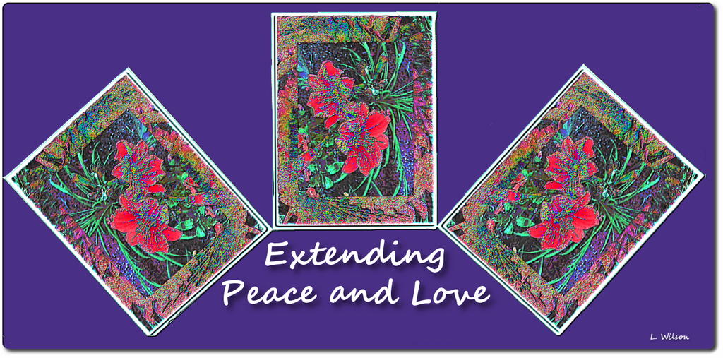 Extending Peace and Love by LindaTateWilson