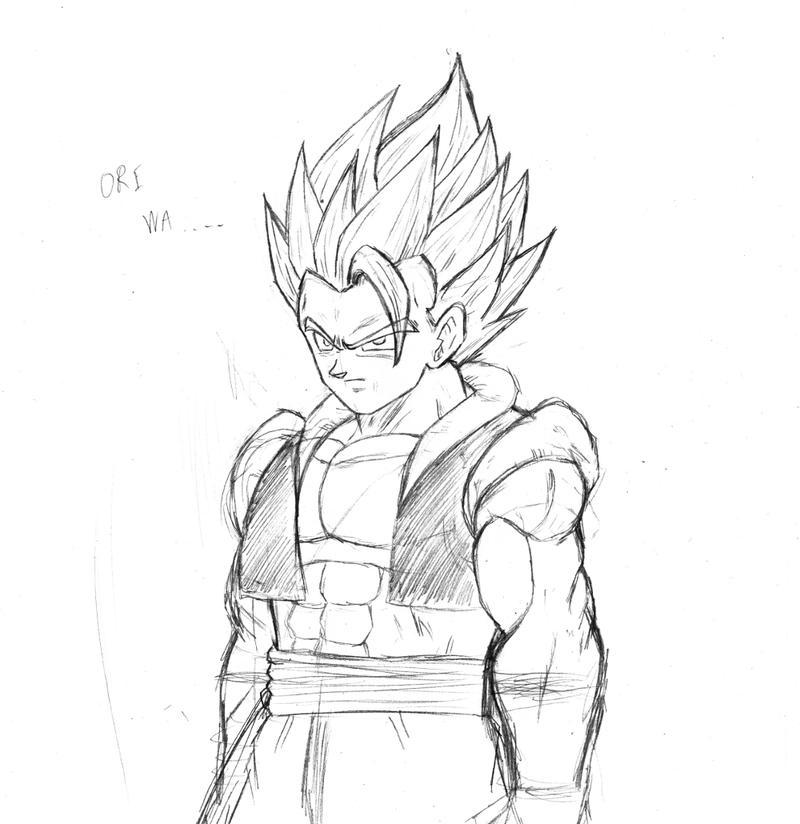 Gogeta sketch by BL-Sama on DeviantArt
