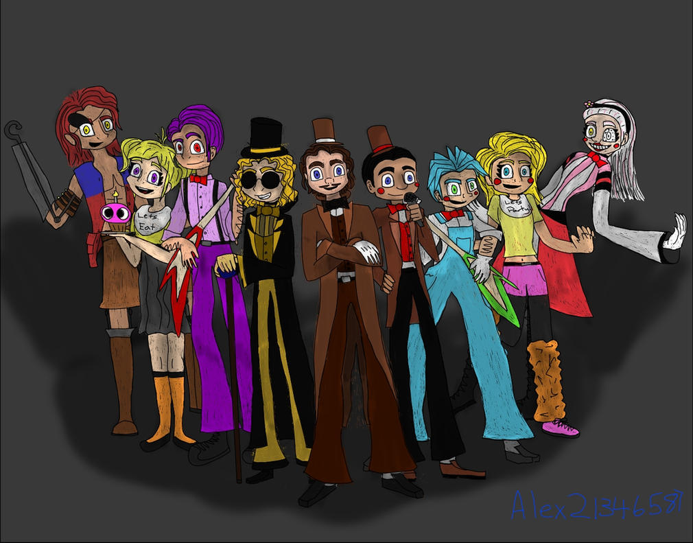 Human fnaf characters by alex21346587 on deviantart