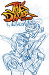 Jak and Daxter Reborn. Title Page Sketch by Alex21346587