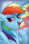 MLP Portrait Series: Rainbow Dash