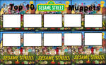 Top 10 Sesame Street Muppets blank meme