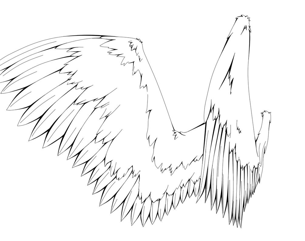 Line Drawing Wings : Angel wings line art by i xdead on deviantart