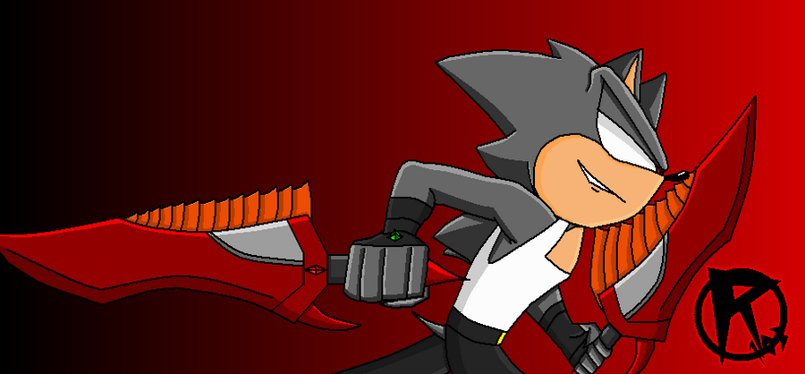 Rage the Hedgehog Fire Sword and Earth Glove by ...