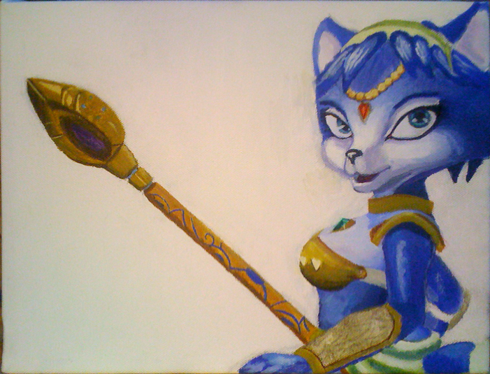 Krystal WIP 3 by CartoonGurra