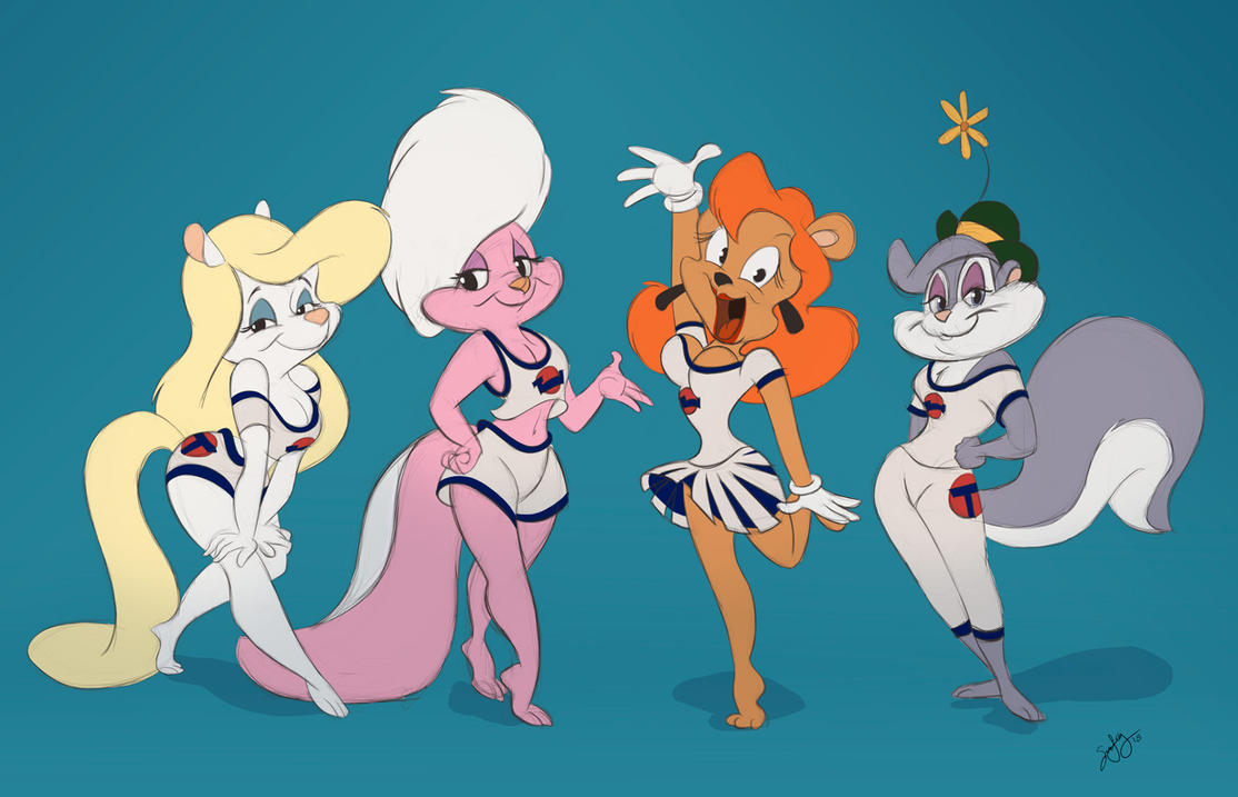 Basketgirls [Commission] by CartoonGurra