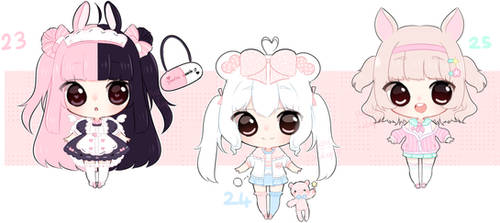 [closed] Adopts Auction #23-25 by pueru--adopts