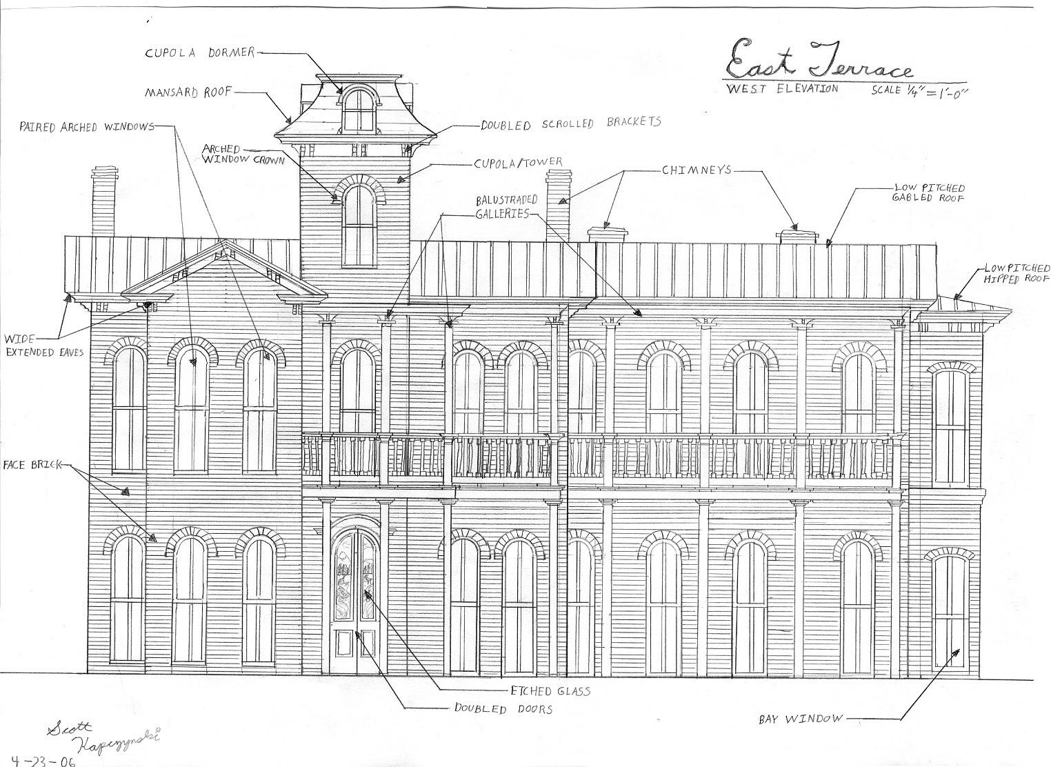 East terrace elevation by dark agent on deviantart for Terrace elevation