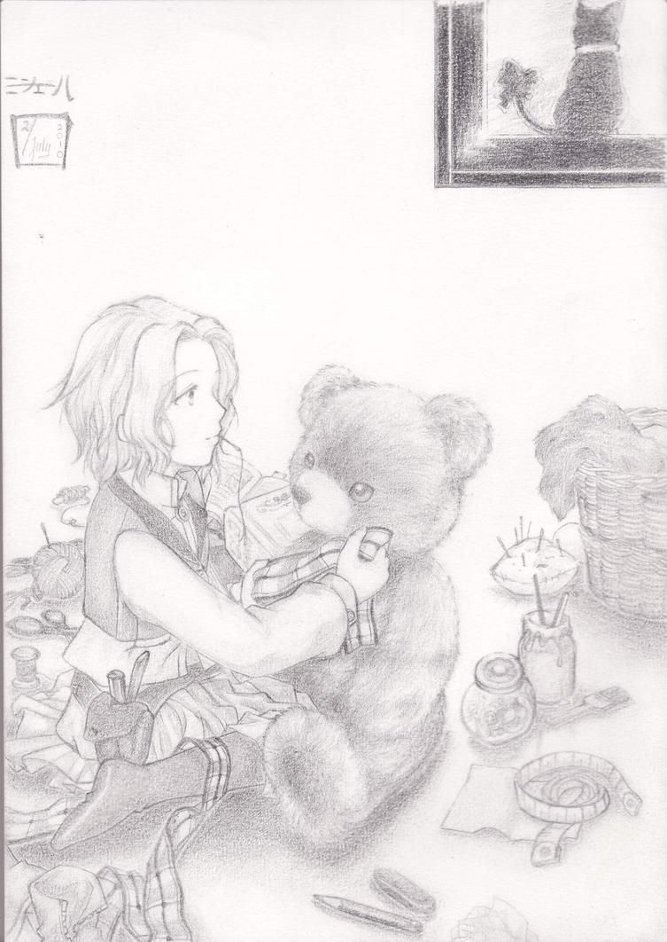 Boneka Teddy Bear Galau Making Teddy by B-Cia