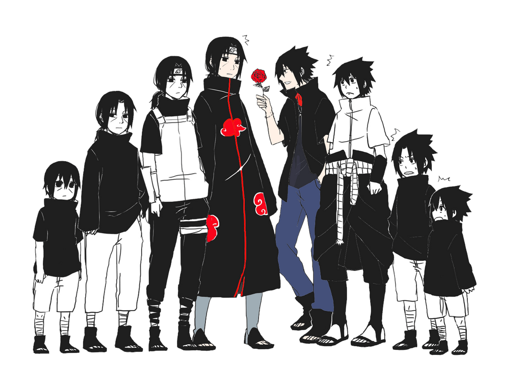 Evolution Sasuke And Itachi By Asabreak On DeviantArt