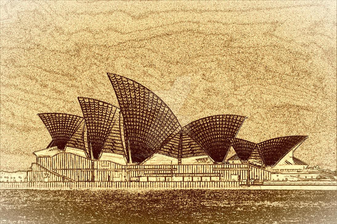 Sydney Opera House by DarkShadowp133