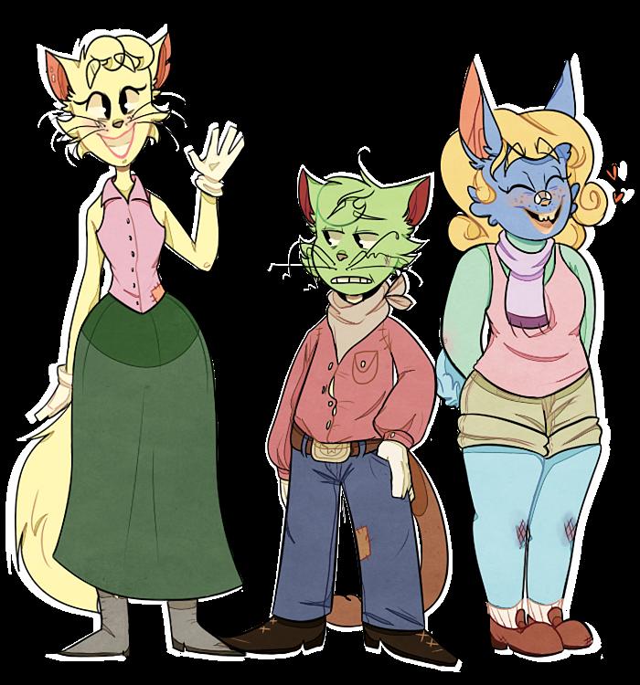 The 'Toon'grass Trio