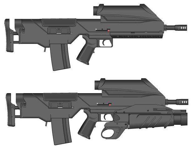 M51 Assault rifle by GunFreakFin