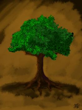 Purple Shaded Tree