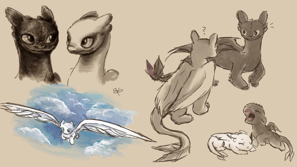 How To Train Your Dragon 3 doodles by DeGIraffe