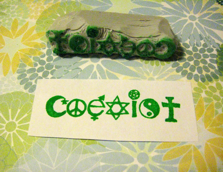 Coexist Stamp by Shakeitlikeaparsnip