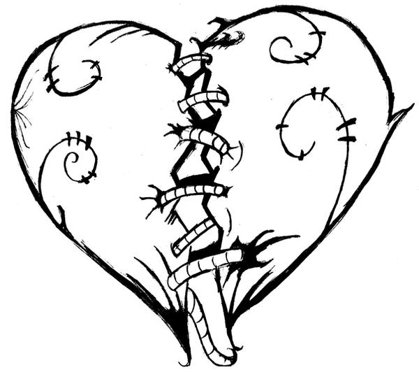 Line Drawing Heart : Broken heart sketch by donnobru on deviantart
