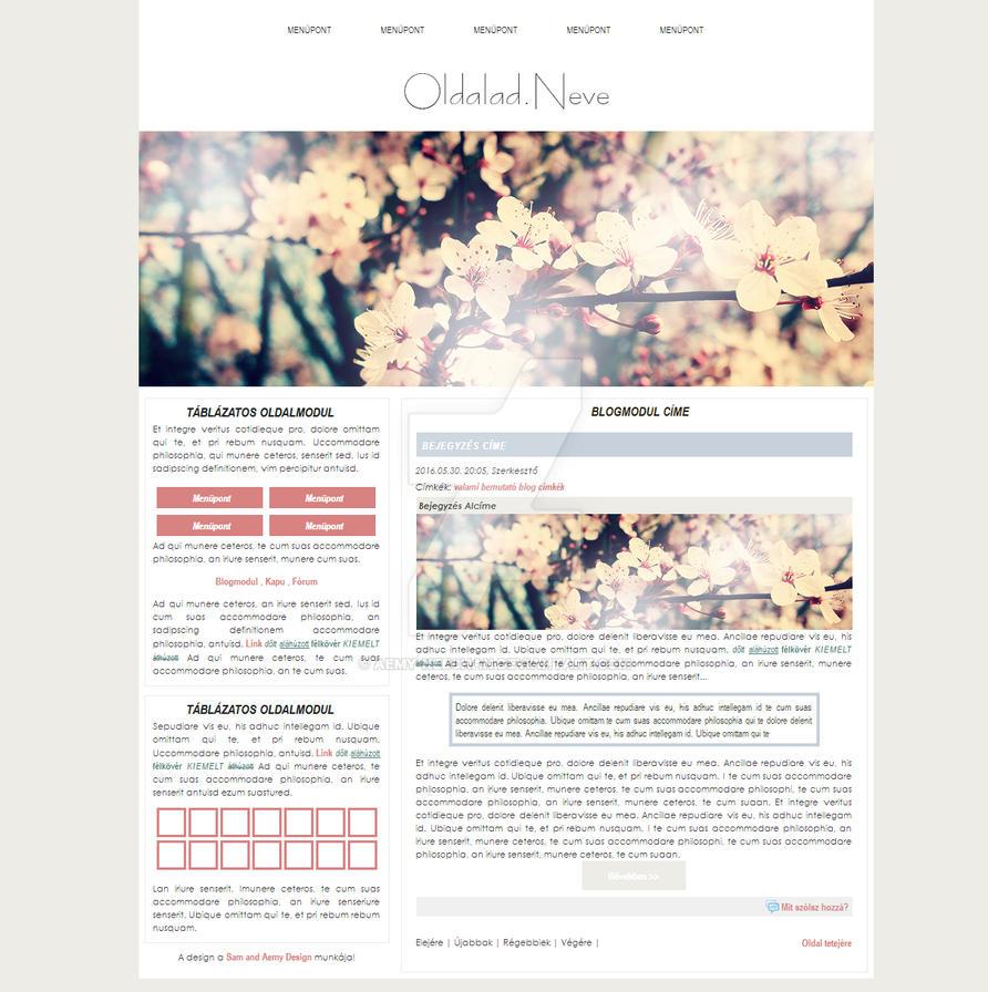 Free Website Design by Aemy-neechan